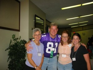 2007 - We met an editor from Bethany House. Despite wearing my name tag all the time, he consistently called me Linda...