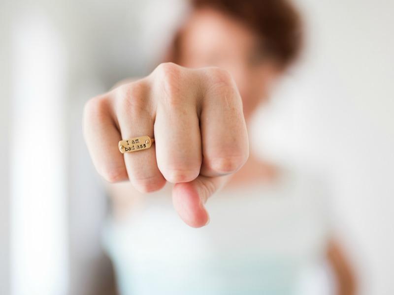 Woman's fist - I am bad ass
